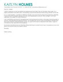 Cover Letter For Front Desk by Leading Professional Front Desk Clerk Cover Letter