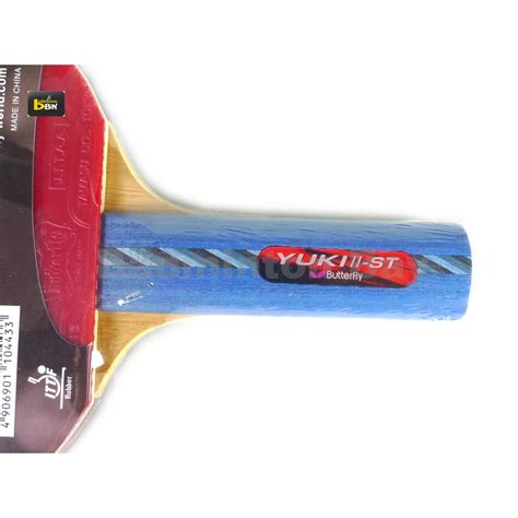 butterfly rubber st out of stock butterfly yuki ii st shakehand table tennis