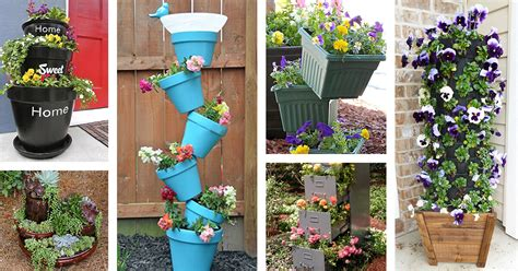 garden tower project diy 21 best diy flower tower ideas and designs for 2018