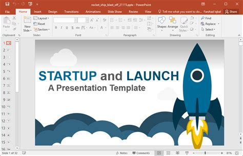 startup powerpoint template animated business startup powerpoint template