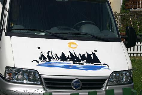Wohnwagen Aufkleber by Boote Delfine Meer Wohnmobil Wohnwagen Aufkleber Set