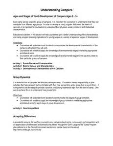 Day C Counselor Sle Resume by Summer C Sle Resumeml Professional Summer C Counselor Templates Showcase Your