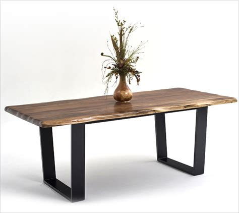 Modern Design Dining Table Contemporary Rustic Wood Furniture Live Edge Tables Wood Furniture