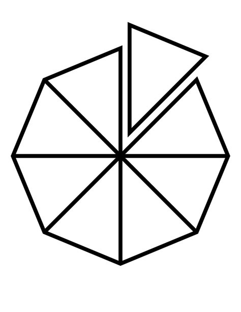 Geometry The Fraction Of The Larger Hexagon That Is - fractions of 8 sided polygon clipart etc