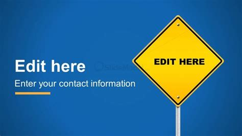Editable Road Sign Powerpoint Template Slidemodel Editable Road Sign Template