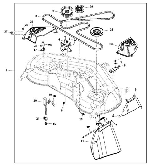deere 425 belt diagram deere 425 54 inch mower deck parts diagram wiring