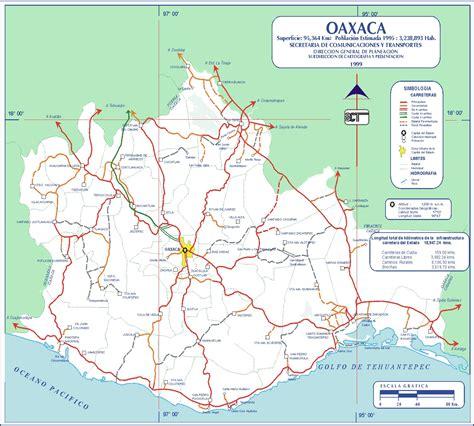 mapa de oaxaca mexico carreteras de la republica mexicana mapa