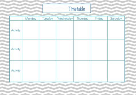 monday through saturday calendar template 8 best images of printable school schedule template