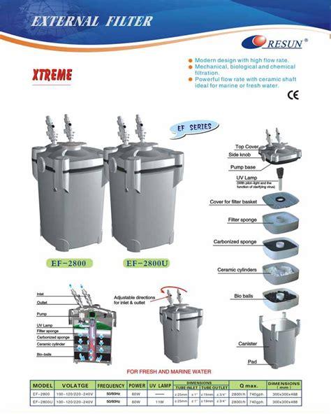 External Filter Resun Ef 2800u Ultraviolet Builtin resun ef 2800u canister filter review and test aquariacentral