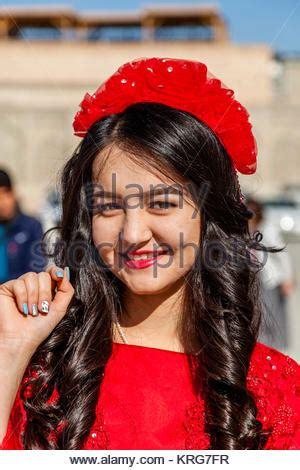 woman in uzbek traditional costume, bukhara, uzbekistan