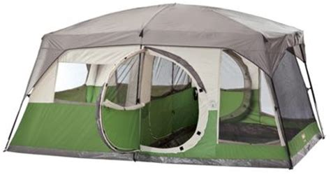 coleman 2 room tent coleman vacationer 2 room 10 person 15 x 10 cabin tent
