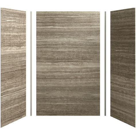 plastic wall sheets bathroom kohler choreograph veincut sandbar shower wall surround
