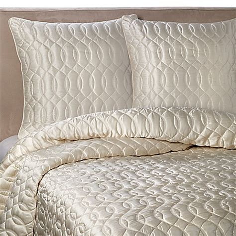 barbara barry dream silk coverlet barbara barry dream sublime quilt in ivory bed bath beyond