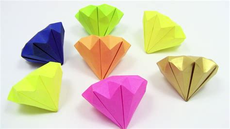 How To Make Diamonds Out Of Paper - how to make a paper origami easy simple como