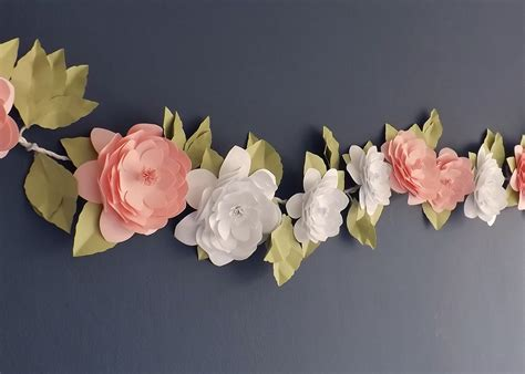 Garland With Paper Flowers - camellia paper flower garland paper bloom