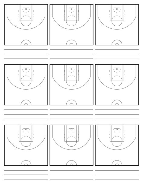 basketball court diagrams for plays basketball playbook template bikeboulevardstucson