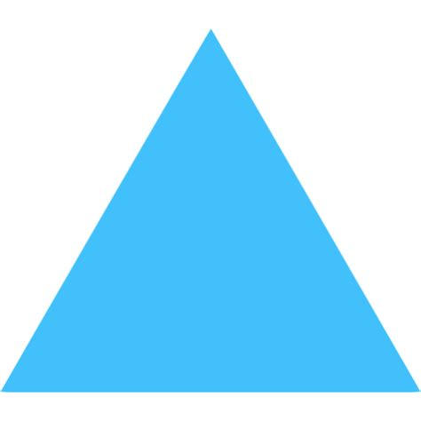 caribbean blue triangle icon  caribbean blue shape icons