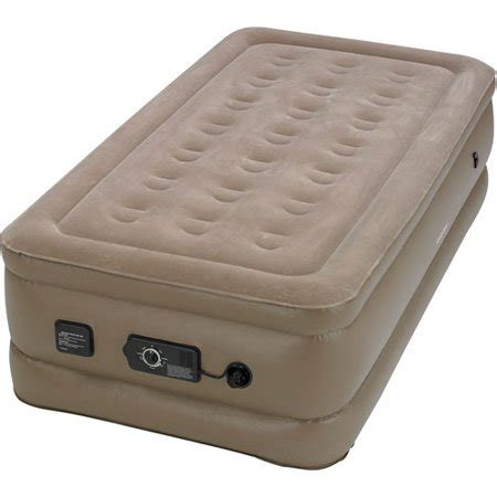 insta bed raised air bed with neverflat ac walmart