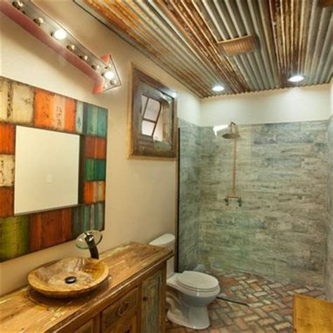 Tin Ceiling In Bathroom by Barn Wood Tin On Bathroom Ceiling Images Frompo