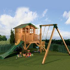 swings and things hours wooden playhouse with slide on pinterest