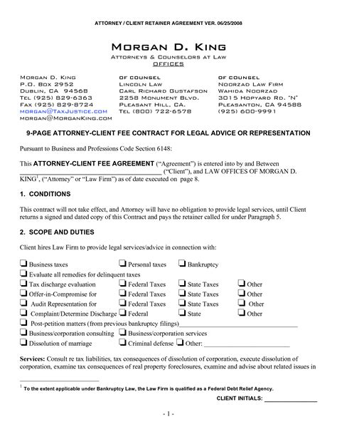 Divorce Retainer Letter 10 best images of lawyer client agreement letter lawyer