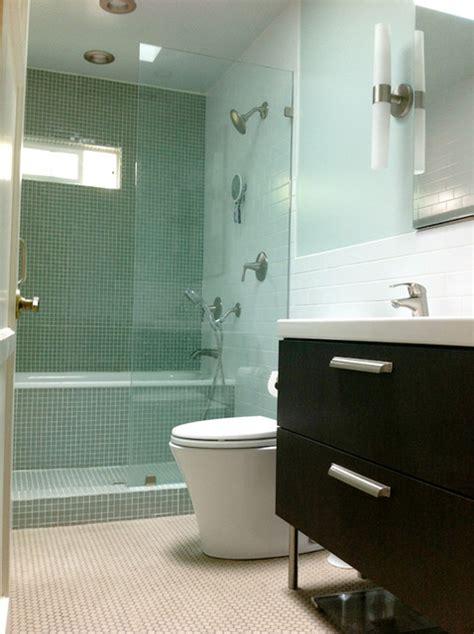 bathroom with japanese inspired showertub space