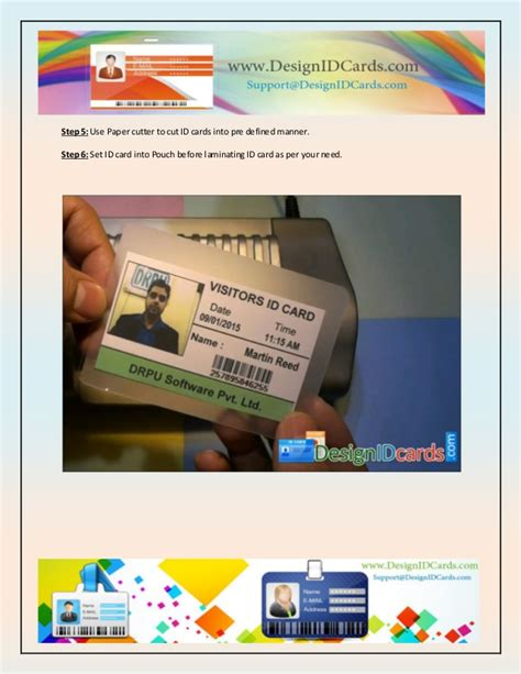visitor pattern utility how to create visitor id cards using id card maker utility