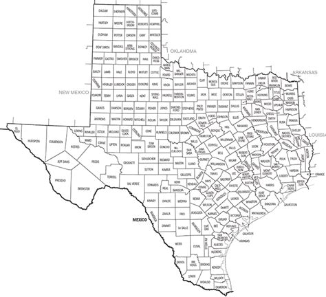 texas state map pdf tdc area boundary maps
