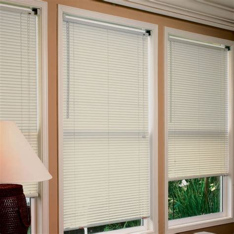 Mini Blinds For Windows Lewis Hyman 185 Premium Room Darkening Mini Blind Alabaster