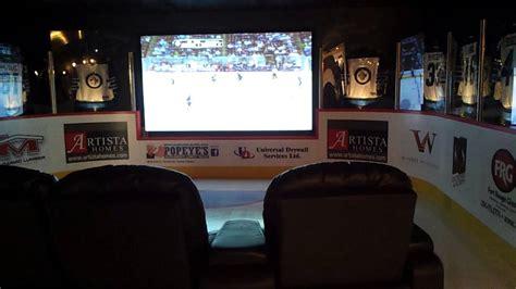 hockey theme media room youtube
