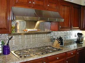 kitchen backsplash ideas decorative tin tiles metal backsplash