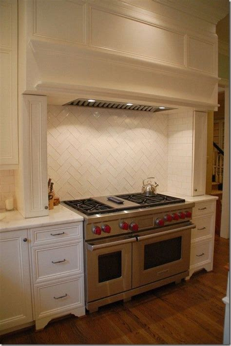 herringbone subway tile backsplash interior design