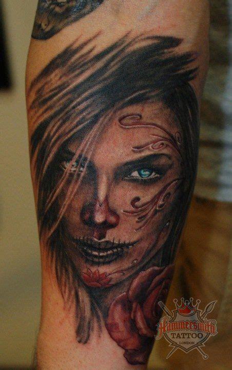 electric zombie tattoo sugar skull got ink sugar