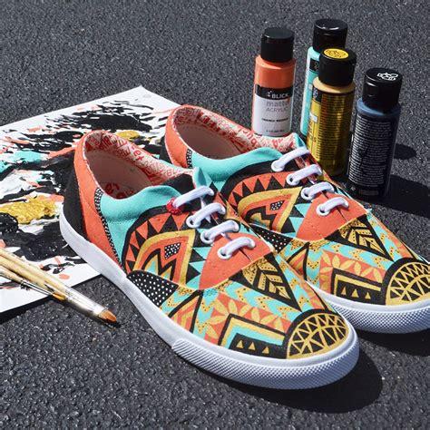 acrylic paint on shoes my 2nd custom bucketfeet shoes on behance