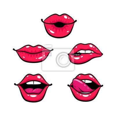 Plakat Usta by Plakat Ustawić Kobieta Warg Usta Pocałunkiem Uśmiech