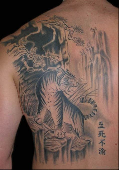 chinese back tattoo designs 60 tiger tattoos for back