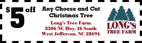 tree farm coupon s tree farm carolina trees west jefferson nc