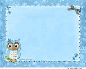 blue frost owl shower cards winter theme invitations