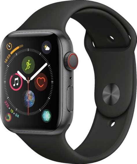 Apple Series 4 Gps Cellular by Apple Apple Series 4 Gps Cellular 44mm Space Gray Aluminum With Black Sport Band