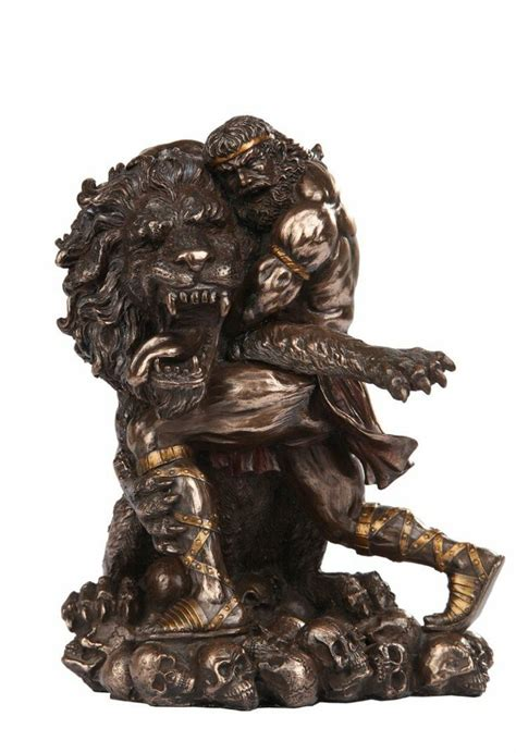 heracles wrestling nemean lion stuff i want pinterest