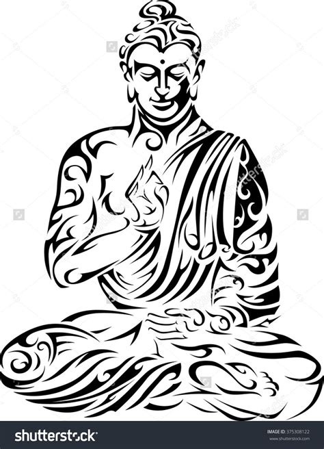 buddhist tribal tattoos stock vector buddha tribal buddha seated buddha vector