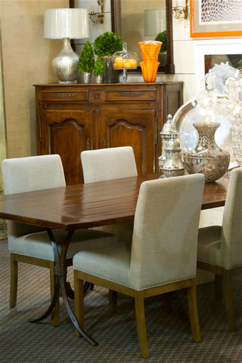 custom tables eclectic dining room new york by