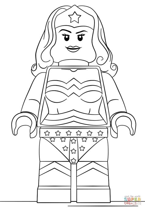 printable coloring pages wonder woman click the lego wonder woman coloring pages to view