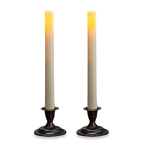 bed bath and beyond yankee candle buy candle impressions 174 2 pack flameless taper candles from bed bath beyond