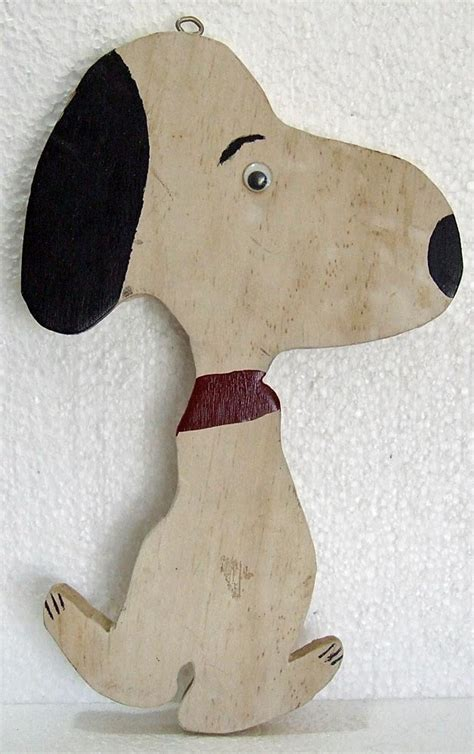 vintage folk art wood cut  wooden snoopy hanging figurine folk art boys  big boy rooms