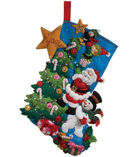bucilla the finishing touch stocking felt applique kit