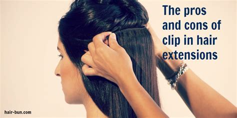 The pros and cons of clip in hair extensions