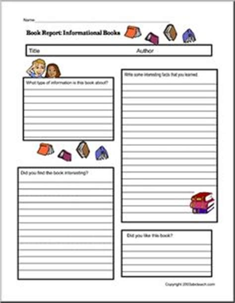 informational book report search results for informational book report template