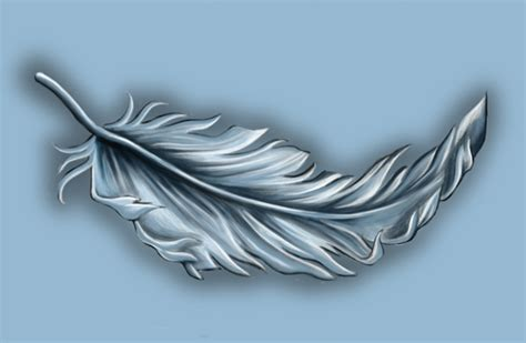 small white feather tattoo designs illustrated