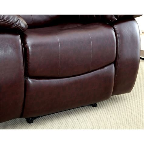leather sofas torrance furniture of america torrance leather recliner in brown
